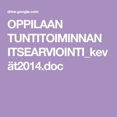 OPPILAAN TUNTITOIMINNAN ITSEARVIOINTI_kevät2014.doc