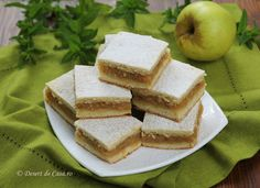 Prajitura cu mere si aluat fraged Romanian Food, Cornbread, Feta, Sandwiches, Deserts, Cooking Recipes, Sweets, Cupcakes, Cheese