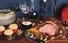 Top 30 Christmas Menus: Menus: bonappetit.com - Prime Rib Perfection  For some, Christmas dinner wouldn't be complete without beef. Here, a decadent prime rib takes center stage.     Mustard-Seed-Crusted Prime Rib Roast with Dijon Crème Fraîche and Roasted Balsamic Onions  Spinach-Parmesan Soufflés  Cabernet Sauvignon    Read More http://www.bonappetit.com/recipes/menus/christmas/2008/12/christmas_menu_guide#ixzz2ElWlqKfX