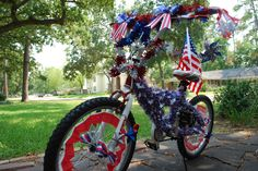 4th of July Bike Decoration