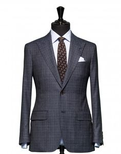 Tailored 2-Piece Suit - Fabric 4331 Check Blue