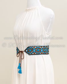Boho chic festival style Sierra tie belt crochet pattern & tutorial with step-by-step pictures, written instructions and charts. Crochet Belt, How To Make Tassels, Festival Fashion, Festival Style, Embroidery Suits Design, Stylish Dresses For Girls, Boho Chic, Sash Belts, Western Dresses