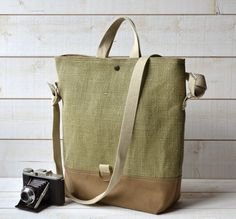 chic linen French bag
