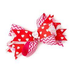 Valentine's Day Ribbon Bow Hair Clip