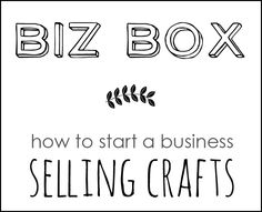 Start a business selling crafts