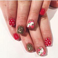 Full set of acrylic with polka-dots, Floral and glitter by Tram @tramsnails #seasonssalon #nailart #naildesigns #gelpolish #glitter #nails #utahnails #oremnails #fullset #acrylic #gel #blmanimonday #repost #creativenails #youngnails #gellish #utahbeautyblog #Padgram