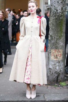 Ulyana Sergeenko. That coat!