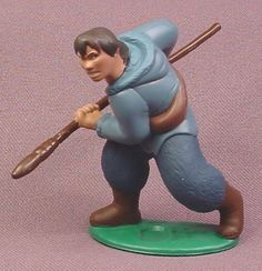 "Disney Brother Bear Human Denahi With Spear PVC Figure on Base, 2 3/4"" tall"