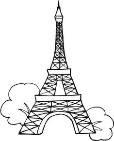Eiffel Tower, the tallest structure in the whole of Paris was built in Considered as a global icon of France, it is one of the most recognizable Rose Coloring Pages, Fish Coloring Page, Animal Coloring Pages, Mandala Coloring, Coloring Pages For Kids, Colouring, Eiffel Tower Clip Art, Eiffel Tower Drawing, Eiffel Tower At Night