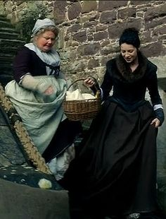 claire and mrs. fitz, outlander, season one