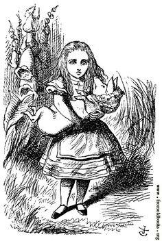 Alice and the pig baby  - Alices Adventures in Wonderland -  Vintage Image. $4.90, via Etsy.