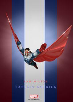 Sam Wilson Captain America Poster RYB-01
