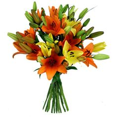 Asiatic Lily bouquet. Know what flowers are in season for your wedding, now on the Rachel Events blog! www.rachelevents.com Dallas and Austin Wedding Planners!