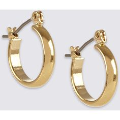 Gold Plated Mini Hoop Earrings M&S (235 MXN) ❤ liked on Polyvore featuring jewelry, earrings, gold plated jewellery, gold plated hoop earrings, gold plated earrings, gold plated jewelry and hoop earrings