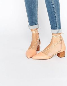 ASOS COLLECTION ASOS OREGON Lace Up Pointed Heels