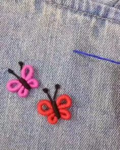Hand Embroidery Patterns Flowers, Basic Embroidery Stitches, Hand Embroidery Videos, Embroidery Stitches Tutorial, Hand Embroidery Stitches, Hand Embroidery Designs, Embroidery Techniques, Sewing Techniques, Sewing Projects