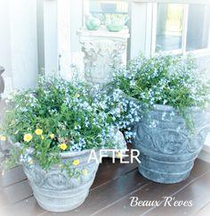 Annie Sloan Paris Grey how to faux concrete a planter