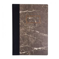 Urban Outfitters x Ohh Deer Black Marble A4 Quarterbound Notebook ❤ liked on Polyvore featuring home, home decor and stationery