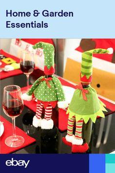 Enthusiastic Hot Sale 1pcs Table Decorations Wine Bottle Cover Ornament Wedding Table Decorations Novelty Decoration Snowman Santa Clause L Wine Bottle Covers