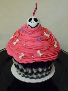 Jack Skellington Cupcake! By mrsbriggs06 on CakeCentral.com