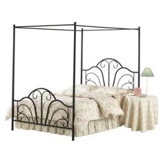 (Target) Dover Black Metal Bed $319 - OMG IM IN LOOOVE! My favoriteeee