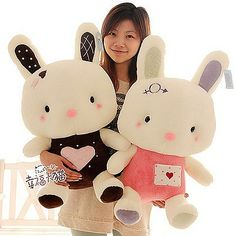Cheap toy plush, Buy Quality gift kids birthday directly from China plush cartoon Suppliers: 2018 Newest Lovely Rabbit Plush Toy High Quality Cartoon Rabbit Stuffed Animals Kids Pillows Birthday Festival Gifts Fleece Crafts, Felt Crafts, Knitted Animals, Felt Animals, Softies, Plushies, Cheap Gift Baskets, Poppy Pins, Cheap Toys