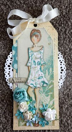 We found YOU! Don't you love this tag by Creative Mayhem using Prima Mixed Media Doll Stamps - Peasant Doll by Julie Nutting #fridayfind #primamarketing #scrapbooking
