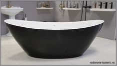Cada baie oval Anette 180 cm neagra Bathtub, Bathroom, Standing Bath, Washroom, Bathtubs, Bath Tube, Full Bath, Bath, Bathrooms