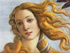 """Detalle de """"El nacimiento de Venus"""", de S. Botticelli"""
