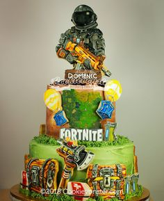Ten Common Myths About Fortnite Cake Walmart 10 Birthday Cake, 10th Birthday Parties, Boy Birthday, Teenager Birthday, Diy Birthday Decorations, Cake Gallery, Diy Cake, Custom Cookies, Birthday Cakes