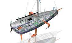 And think of all the cash Beneteau will be able to make selling replacement foils. Fast Boats, Cool Boats, Yacht Design, Boat Plans, Boat Building, Catamaran, Water Crafts, One Design, Wind Turbine