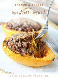 Stuffed Spaghetti Squash (low-carb, gluten-free, primal)