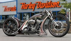 Although the chopper is a distinctly American breed of custom motorcycle, that hasn't prevented bike builders from other parts of the world from getting in on the act. The chopper-building scene is particularly strong in. Harley Davidson Chopper, Harley Davidson Signs, Davidson Bike, Harley Davidson Motorcycles, Concept Motorcycles, Vintage Motorcycles, Custom Motorcycles, Custom Bikes, Custom Choppers