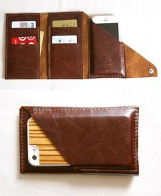 Smart Phone Wrap Wallet - Wish I knew where to buy this Wrap Wallet, Pochette Portable, Leather Wallet, Leather Bag, Transporter, Best Phone, Leather Projects, The Bikini, Leather Working