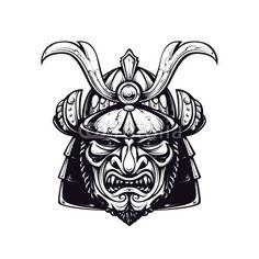 ベクター: Samurai mask clip-art点