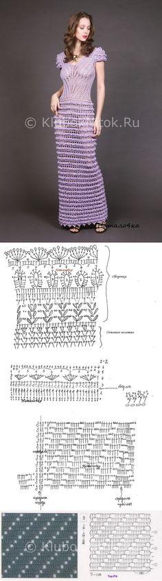 Платье от ALZIRA VIEIRA | Вязание для женщин | Вязание спицами и крючком. Схемы…