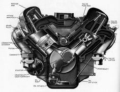 409 v8 engine | A cut away of the 409 engine.