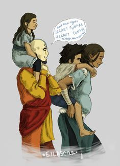 Kataang Family by eilasorr on DeviantArt. that's when they had their first kiss!!!! (((((SCREECHES))))