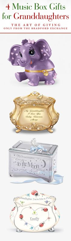 393b7d89cb Personalized Music Boxes Christmas Gifts & Presents For Granddaughter