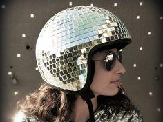 Custom motorcycle helmets - the disco ball