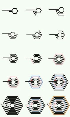 How to draw the Exo Overdose symbol! Exo Chanyeol, Kpop Exo, Kyungsoo, K Pop, Btob, Cnblue, L Icon, Exo News, Kpop Logos