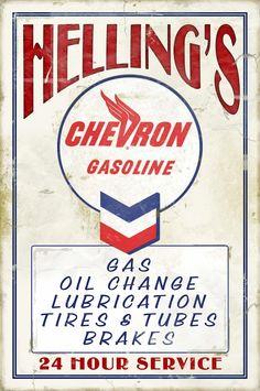 Vintage Chevron Signage