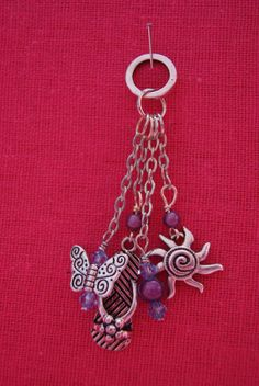 Purple and Blue Summer Sun Charm by closecrafts on Etsy, $10.00