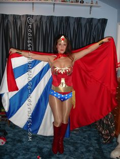 Beautiful Homemade Wonder Woman Costume... Coolest Halloween Costume Contest