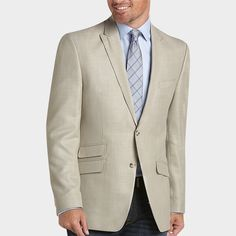 Perry Ellis Portfolio Tan Slim Fit Sport Coat - Slim Fit (Extra Trim) | Men's Wearhouse