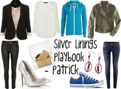 """""""Inspired By: Silver Linings Playbook -- Patrick"""" by sarastrauss on Polyvore"""