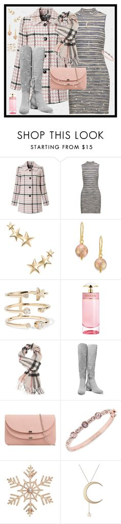 """Pink Snow"" by winscotthk ❤ liked on Polyvore featuring Miss Selfridge, Autumn Cashmere, Kenneth Jay Lane, Lena Skadegard, Andrea Fohrman, Prada, Burberry, Halston Heritage, Givenchy and John Lewis"