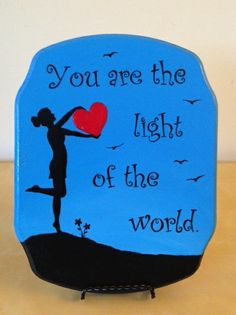 """This lovely 8.5"""" x 11"""" hand-painted plaque come with its own stand (as shown.)"""