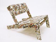 slanted chair