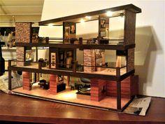quarter-scale dollhouse Modern Dollhouse, Liquor Cabinet, Dollhouses, Storage, Scale, Furniture, Mini, Home Decor, Purse Storage